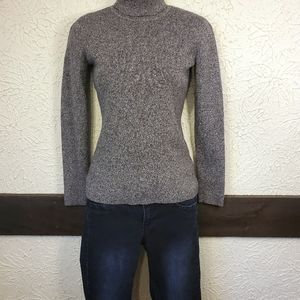 Style & Co Heathered Gray Ribbed Turtleneck Small